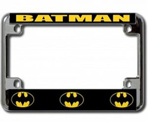 Batman motorcycle license plate frame