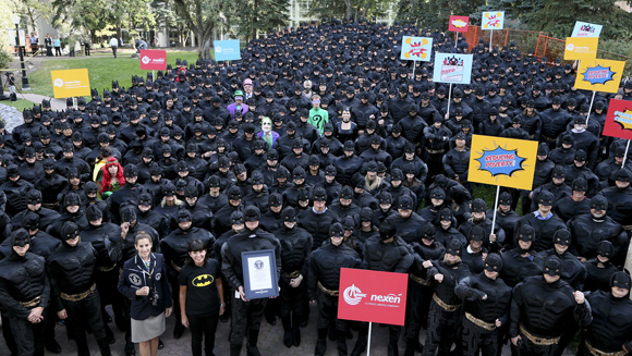 Batman costume world record